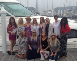 Ladies aboard the Sea Tejas yacht