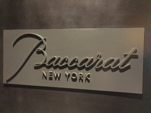 baccarat hotel sign