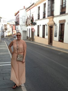 Nicole Brende exploring the streets of Ronda, Spain