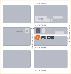 ride studio map